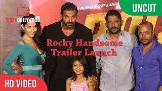 uncut rocky handsome trailer launch   john abraham shruti haasan   t series   viralbollywood