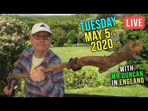 WINDY TUESDAY - 5th May 2020 / Live from England / Listen and Learn English with Mr Duncan
