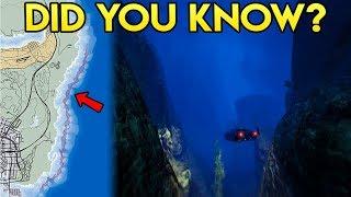 GTA Online DID YOU KNOW? - The HUGE Secret Underwater Trench East of Los Santos