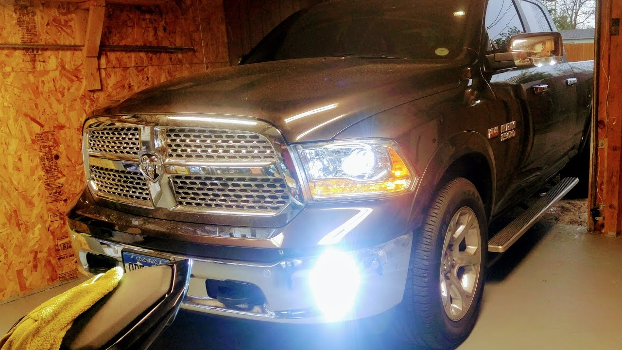 How To Install Hid Lights On New Ram Trucks Youtube