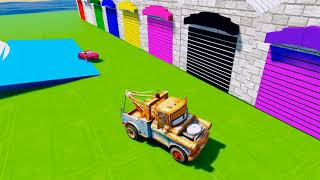 Mater Truck find Color McQueen Cars learn colors with Disney Cars 3 Funny Songs for Kids