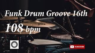Funk Drum Groove HH 16th - 108 bpm - HQ