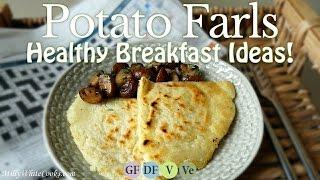 Irish Potato Farls & Sauté Mushrooms ☘ Healthy Breakfast Recipe Ideas