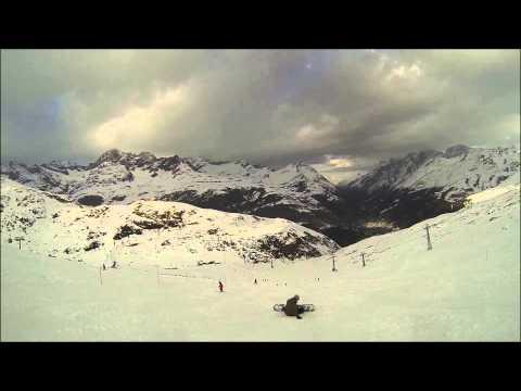 Simoes 1ª vez no snowboard, Zermatt 23-11-2014