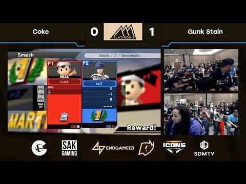 Flatiron 3 Singles Pools - Coke (Ness) vs Gunk Stain (Marth)