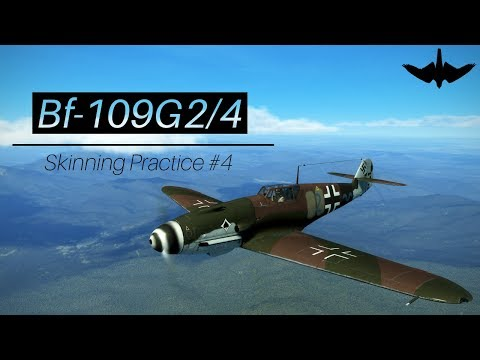 IL2 BoX   Skinning Practice #4   Bf-109G2/4 w/ Spiraled Prop thumbnail