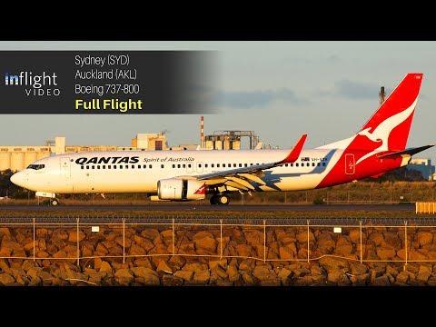 Qantas Full Flight: Sydney to Auckland (Boeing 737-800)