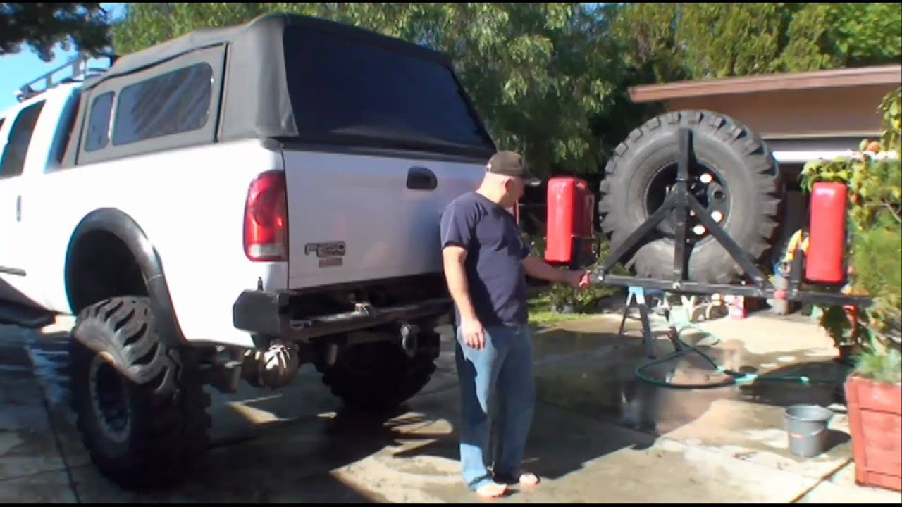 Off Road Bumpers F150 >> Superduty Tire Carrier Details - YouTube