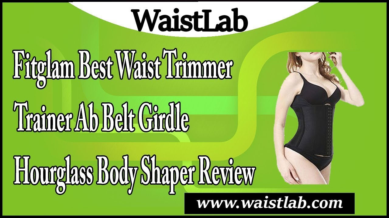 659e810471 Fitglam Best Waist Trimmer   Trainer Ab Belt Girdle Hourglass Body Shaper  review
