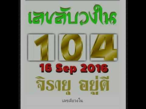 เลขเด็ดงวดที่ 1/10/2559 รออัพเดท, ข้อมูลหวย เลขลับวงใน16/9/59