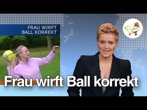 Frau wirft Ball korrekt: Fake oder echt? [Postillon24]