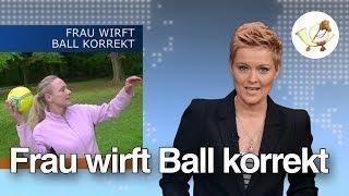 Postillon24: Frau wirft Ball korrekt: Fake oder echt?