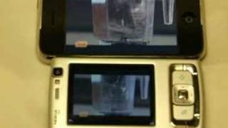 iPhone vs Nokia N95 YouTube