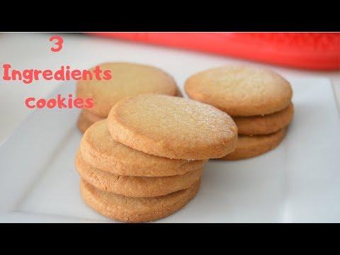 3 Ingredients Shortbread Cookies