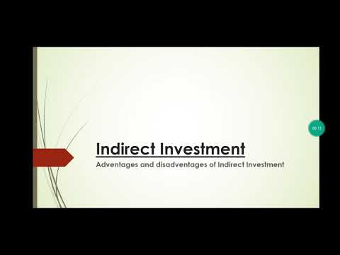 Indirect Investment