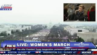 AUDIO SHUT DOWN On Scarlett Johansson At Women's March In DC To Protest President Donald Trump FNN
