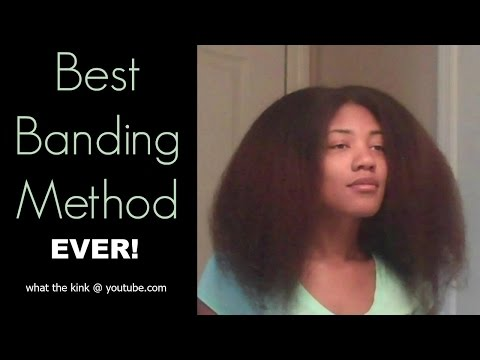 Best Banding Method Ever | Stretch Natural Hair