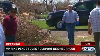 Vice President, Governor put on work gloves and help in Rockport