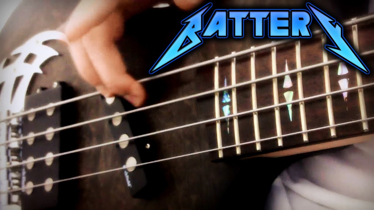 Metallica Battery Bass Cover Full Hd 1080p Youtube