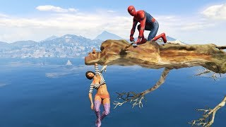 GTA 5 Water Ragdolls | SPIDERMAN Jumps/Fails #6 (Euphoria physics | Funny Moments)
