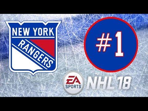 NHL 18 ~ New York Rangers Franchise Mode ~ #1 (Fresh Start)
