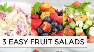 3 Easy Delicious Fruit Salad Recipes