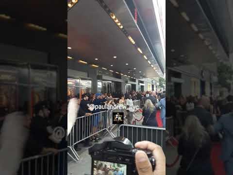 Dwayne (The Rock) Johnson at the Skyscraper movie premiere in NYC. Jul 10,2018