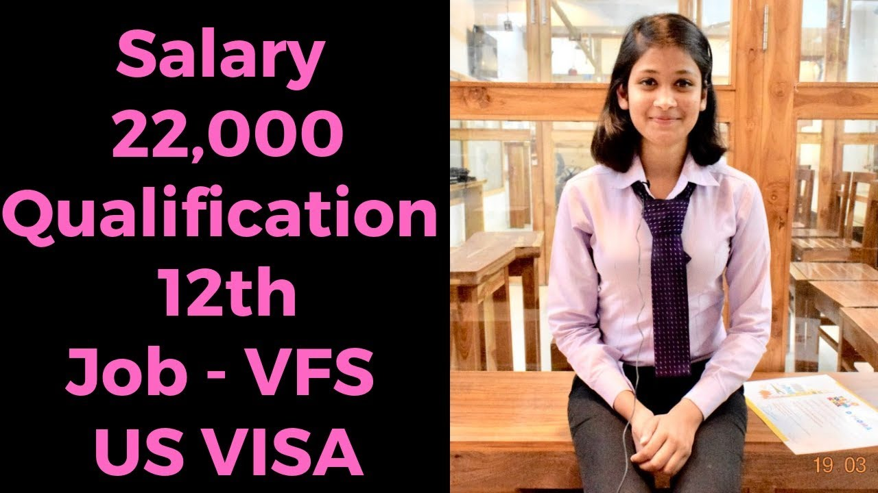 Sunaina Student of Airport Management Job in VFS Global Salary 22000 |  Career in Travel and Tourism