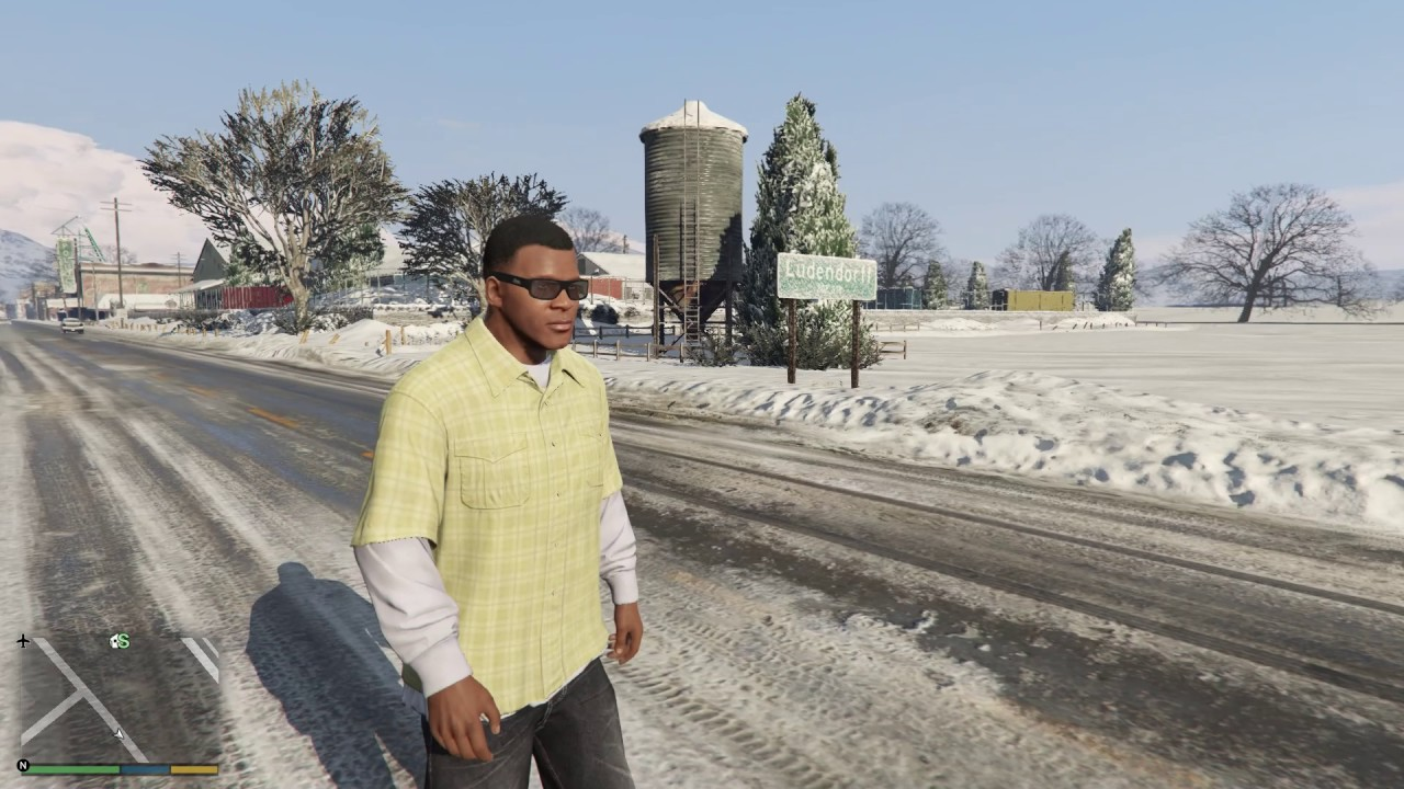 HOW BIG IS THE MAP in GTA V North Yankton Walk Across the Snow
