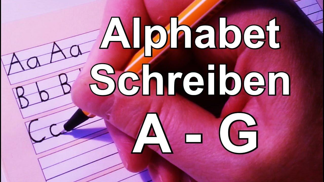 1.2.2.1 A - G Alphabet - Schreiben - German alphabet - learn to read ...