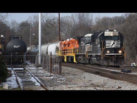Railfanning Howell Wye 1/20/18: NS/CSX/UP/BNSF/KCS/HOG