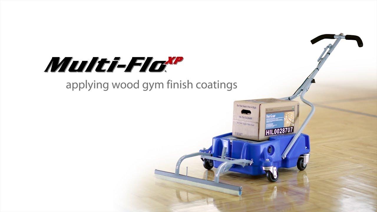 Multi Flo Xp By Hillyard Wood Gym Floor Coating Youtube