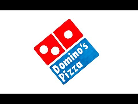 How to draw Domino's Pizza logo very easily / Logo Drawing 05