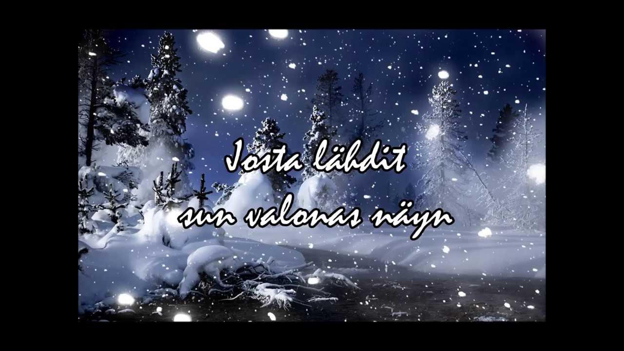 Konsta Jylhän Joululaulu Nuotit