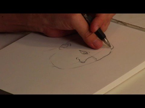 Drawing Popular Cartoon Characters : How to Draw Martin Luther King, Jr.