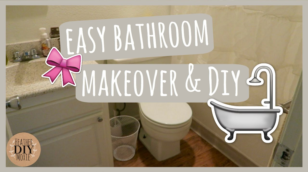 Bathroom Makeovers Youtube easy bathroom makeover & diy - youtube