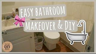 CHEAP and EASY DIY! Renter Friendly Bathroom Makeover