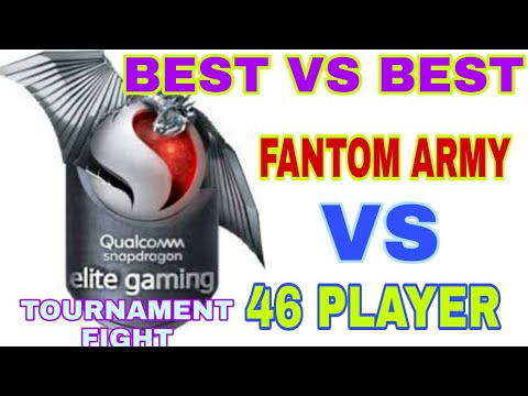 QUALCOMM SNAPDRAGON FREE FIRE TOURNAMENT ! BEST VS BEST ! FANTOM ARMY VS 46 PLAYERS !FANTOM GAMING !