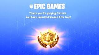 Fortnite Season 8 Battle Pass FREE..