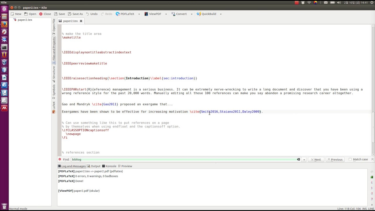 Using Mendeley with LaTeX - Referencing, Citing, and