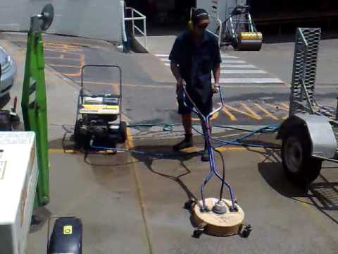 Hire a waterblaster rotary floor cleaner gerni spitwater for Deck and concrete cleaner