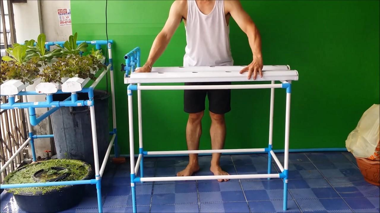 ็How to make hydroponic system by yourself. ชุดปลูกผักไฮโดรโปรนิกส์