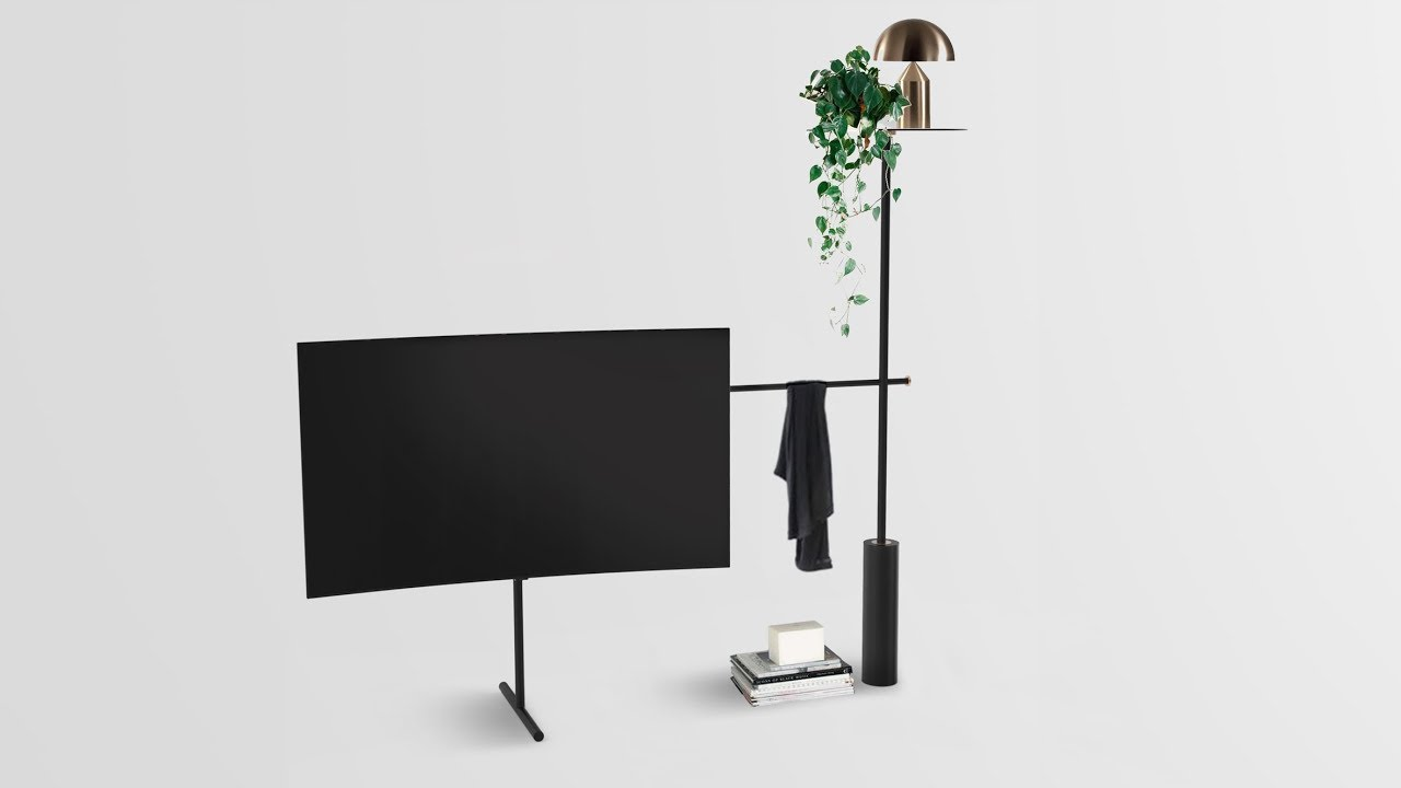 dezeen x samsung qled tv stand design competition youtube. Black Bedroom Furniture Sets. Home Design Ideas