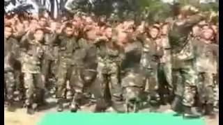 Aksi TNI  yel yel TNI AD yang lucu dan semangat 45