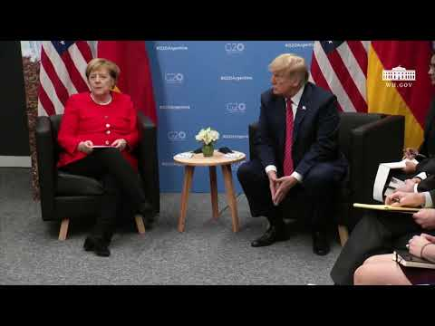 President Trump Participates in a Meeting with the Chancellor of the Federal Republic of Germany