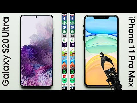 Galaxy S20 Ultra Vs. IPhone 11 Pro Max Speed Test