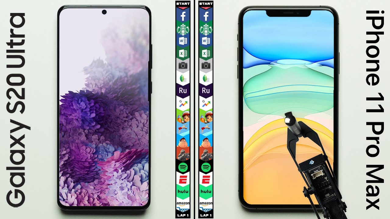 Photo of Galaxy S20 Ultra vs. iPhone 11 Pro Max Speed Test – ايفون