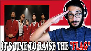 LET'S RAISE OUR FLAGS TOGETHER! Cokelat - Bendera reaction Indonesia