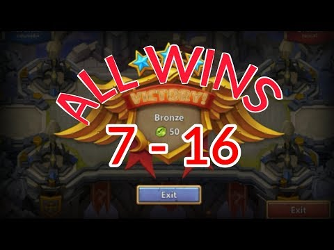 Castle Clash Squad Showdown 7-16 All Wins And Setup