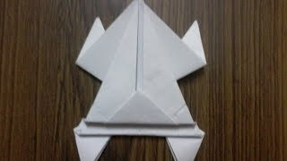 How to make Jumping Paper Frog